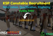 KSP Constable Recruitment 2021 - Karnataka 4000 Police Constable Vacancy Notification, Salary, Eligibility Criteria, Age Limit, Last Date, Apply Online.