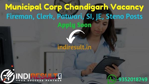 MC Chandigarh Recruitment 2021 for 172 Fireman, Clerk, Patwari, SI, JE, Steno Posts - Apply Chandigarh Nagar Nigam VacancyNotification, Eligibility, Salary