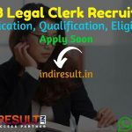 PSSSB Legal Clerk Recruitment 2021 - Apply PSSSB 160 Legal Clerk Vacancy Notification, Eligibility Criteria, Age Limit, Salary, Qualification, Last Date.