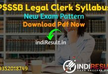 PSSSB Legal Clerk Syllabus 2021 - Download PSSSB Punjab Legal Clerk Syllabus pdf in Hindi/English & PSSSB Legal Clerk Exam Pattern,SSSB Legal Clerk Syllabus