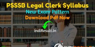 PSSSB Legal Clerk Syllabus 2021 - Download PSSSB Punjab Legal Clerk Syllabus pdf in Hindi/English & PSSSB Legal Clerk Exam Pattern,SSSB Legal Clerk Syllabus
