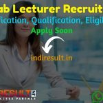 Punjab Lecturer Recruitment 2021 - Apply School Education Department Board Punjab 569 Lecturer Vacancy Notification, Eligibility Criteria, Salary, Age Limit