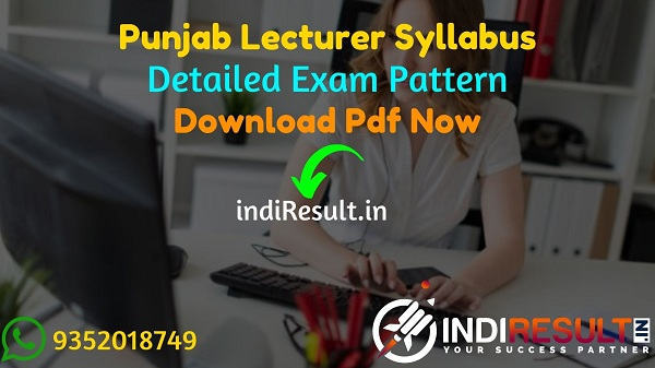 Punjab Lecturer Syllabus 2021 - Download Punjab Education Board Lecturer Syllabus Pdf, Punjab Lecturer Exam Pattern, Punjab SED Lecturer Syllabus 2021 Pdf.