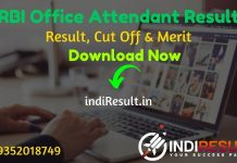 RBI Office Attendant Result 2021 - Download Reserve Bank of India RBI Office Attendant Exam Result. Result Date Of RBI Office Attendant Exam is 05 May 2021.