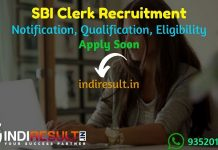 SBI Clerk Recruitment 2021 - SBI Clerk Notification Released for 5237 Posts, SBI Clerk Eligibility, Age Limit, Salary, Qualification, Selection process.