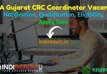 SSA Gujarat CRC Coordinator Recruitment 2021 - Apply SSA Gujarat 250 CRC Coordinator Vacancy Notification, Eligibility Criteria, Salary, Age Limit,Last Date.