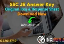 SSC JE Answer Key 2021 - Staff Selection Commission Published SSC Junior Engineer Answer Key & SSC JE Tier 1 Answer Key on website ssc.nic.in Download Pdf.