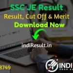 SSC JE Result 2021 - Download Staff Selection Commission SSC JE Tier 1 Result, Cut off & Merit List 2021. The Result Date Of SSC JE Exam is 04 May 2021.