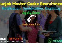 PSEB Punjab Master Cadre Recruitment 2021 -Punjab 2392 Master Cadre VacancyNotification, Eligibility Criteria, Salary, Age Limit, Last Date, Apply Online.