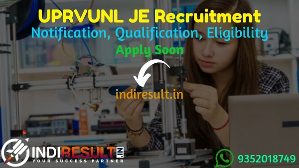 UPRVUNL JE Recruitment 2021 - UPRVUNL released 196 Junior Engineer Vacancy Notification, Eligibility Criteria, Age Limit, Salary, Qualification, Last Date.