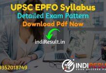 UPSC EPFO Syllabus 2021 - Download UPSC EPFO Exam Syllabus pdf in Hindi/English & UPSC EPFO Exam Pattern, Download UPSC EPFO 2021 Syllabus pdf.