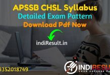 APSSB CHSL Syllabus 2021 - Download APSSB DEO, JSA, LDC Syllabus pdf in Hindi/English & APSSB CHSL Exam Pattern, Get APSSB Syllabus pdf.