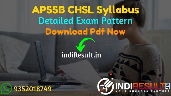 APSSB CHSL Syllabus 2021 - Download APSSB DEO, JSA, LDC Syllabus pdf in Hindi/English & APSSB CHSL Exam Pattern, Get APSSB Syllabus pdf.