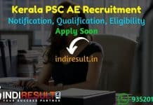 Kerala PSC AE Recruitment 2021 - Apply KPSC 83 Assistant Engineer Vacancy, Notification, Eligibility Criteria, Age Limit, Salary, Qualification, Last Date.