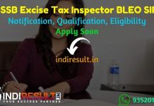 PSSSB Excise Tax Inspector BLEO SIPO Recruitment 2021 - Apply Punjab Excise Tax Inspector, BLEO, SIPO Vacancy Notification, Eligibility, Age Limit, Salary.