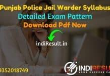 Punjab Police Jail Warder Syllabus 2021 - Download PSSSB Jail Warder Syllabus pdf in Punjabi/Hindi/English & Punjab Police Jail Warder Exam Pattern.