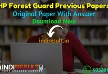 HP Forest Guard Previous Papers - DownloadHimachal PradeshForest Guard question papers in hindi pdf, HP Forest Guard Previous Year Question Papers.