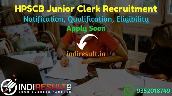 HPSCB Junior Clerk Recruitment 2021 - Apply HPSCB 149 Jr Clerk & Steno Typist Vacancy, Notification, Eligibility Criteria, Age Limit, Salary, Last Date.