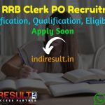 IBPS RRB Clerk PO Recruitment 2021 – Apply IBPS RRB Clerk PO Notification, Eligibility, Salary,Age Limit, Educational Qualification, Syllabus, Exam Pattern.