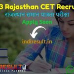 Rajasthan CET Recruitment 2021 - Apply RSMSSB Rajasthan Common Eligibility Test CET Vacancy Notification, Salary, Eligibility Criteria, Age Limit, Last Date