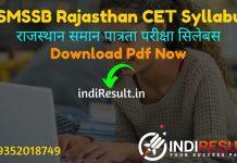 Rajasthan CET Syllabus 2021 : Download Rajasthan RSMSSB CET Syllabus pdf in Hindi/English. RSMSSB Common Eligibility Test Exam Pattern. CET Syllabus RSMSSB