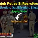 Punjab Police SI Recruitment 2021 - Apply Online for Punjab 560 Sub Inspector Vacancy Notification, Eligibility, Salary, Age Limit, Qualification, Last Date