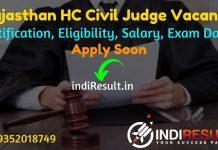 Rajasthan High Court Civil Judge Recruitment 2021 - Rajasthan High Court 120 Civil Judge Vacancy Notification, Eligibility, Salary, Age Limit, Last Date.