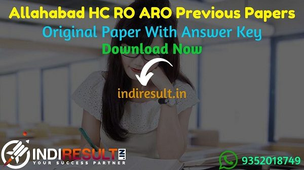 Allahabad High Court RO ARO Previous Question Papers - Download Allahabad High Court RO ARO Previous Year Papers Pdf, Allahabad High Court RO ARO Old Paper.