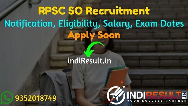 RPSC SO Recruitment 2021 - Apply RPSC 43 Statistical Officer Vacancy Notification, Eligibility Criteria, Age Limit, Salary, Qualification, Last Date.