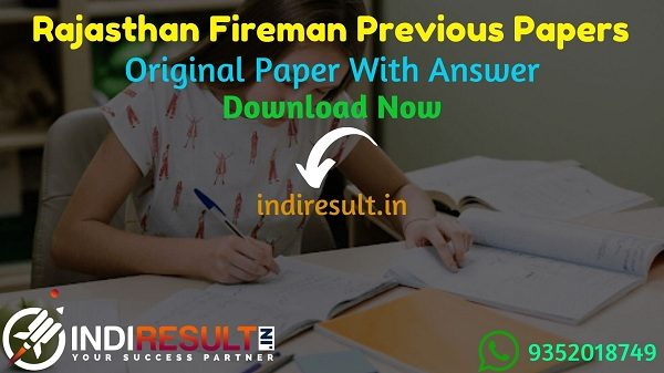 Rajasthan Fireman Previous Question Papers – Download RSMSSB Fireman Question Paper Pdf, Rajasthan Fireman Old Papers, Fireman Previous Papers Rajasthan.