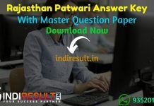 Rajasthan Patwari Answer Key 2021 - Download RSMSSB Patwari Answer Key pdf. RSMSSB Board released Rajasthan Patwari Official Answer Key with Paper Solution.