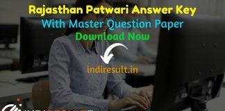Rajasthan Patwari Answer Key 2021 -Download RSMSSB Patwari Answer Key pdf. RSMSSB released Rajasthan Patwari 23 - 24 October Answer Key Pdf Paper Solution.