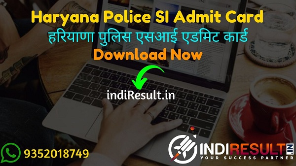 Haryana Police SI Admit Card 2021 – Download HSSC SI Admit Card. Haryana Staff Selection Commission released HSSC Police Sub Inspector Admit Card link.