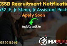 JKSSB Recruitment 2021 for 432 JE, Jr Steno, Jr Assistant Posts - Apply Online for JKSSB 432 JE, Jr Steno, Jr Assistant Posts Recruitment Notification 2021.