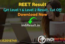 REET Result 2021 -Download BSER REET Level 1 Result,RBSE REET Level 2 Result,Rajasthan REET Level 1 & 2 Result Name wise,REET Cut off, REET 2021 Result Date