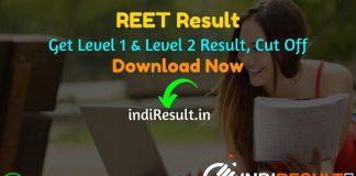 REET Result 2021 - Download REET Level 1 Result, RBSE REET Level 2 Result, Rajasthan REET Level 1 & 2 Result Name wise. REET 2021 Result Date. रीट का परिणाम