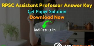 RPSC Assistant Professor Answer Key 2021 - Download RPSC Assistant Professor GK Answer Key & Official RPSC Assistant Professor Subject Wise Answer Key Hindi