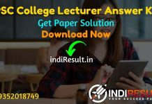 RPSC College Lecturer Answer Key 2021 - Download RPSC College Lecturer GK Paper Answer Key & RPSC College Lecturer Subject Wise Question Paper Solution Pdf.