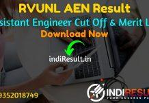 RVUNL AEN Result 2021 – Download RVUNL AEResult, Cut Off, Merit List & RVUNL Assistant Engineer Result. Result date of RVUNL AEN Exam is 24 September 2021.