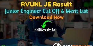 RVUNL JE Result 2021 – Download RVUNL JEN Result, Cut Off, Merit List & RVUNL Junior Engineer Civil, Mechanical, Electrical Result. Result date of RVUNL JE.