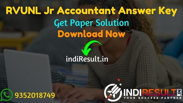 RVUNL Junior Accountant Answer Key 2021 -Download Answer Key of RVUNL Junior Accountant ExamPdf. RVPN Junior Accountant Paper Solution, RVUNL JA Answer Key