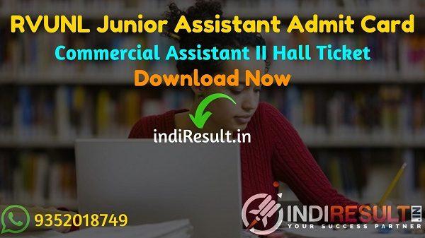 RVUNL Junior Assistant Admit Card 2021 - Download RVPN Junior Assistant Admit card energy.rajasthan.gov. Junior Assistant Exam Date is 22 - 25 October 2021.