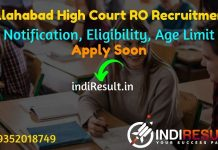 Allahabad High Court RO Recruitment 2021 -Apply Online for Allahabad High Court AHC Review Officervacancy Notification, Eligibility, Age Limit, Salary.