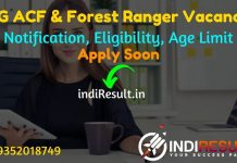 Chhattisgarh ACF & Forest Ranger Recruitment 2021 -Apply CGPSC 178 ACF & Forest Ranger Vacancy Notification, Salary, Eligibility, Age Limit, Last Date.