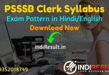 PSSSB Clerk Syllabus 2021 -Download Punjab Clerk Syllabus pdf in Hindi/English & PSSSB Clerk Exam Pattern, Get PSSSB IT Clerk & Accounts Clerk Syllabus Pdf.