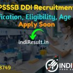PSSSB DDI Recruitment 2021 -Apply online PSSSB released 25 Dairy Development Inspector Vacancy Notification, Eligibility, Age Limit, Salary, Qualification.