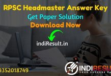 RPSC Headmaster Answer Key 2021 - Download RPSC Headmaster GK Answer Key & Headmaster Paper 2nd Answer Key Pdf. Get RPSC HM Answer Key Solved Question Paper