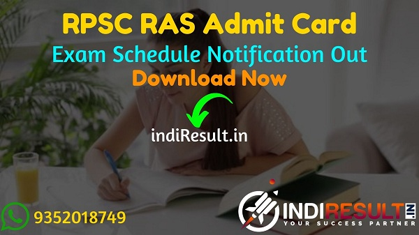 RPSC RAS Admit Card 2021 – Download Rajasthan RAS Pre Admit Card. Rajasthan Public Service Commission RPSC published RAS Admit Card at rpsc.rajasthan.gov.in