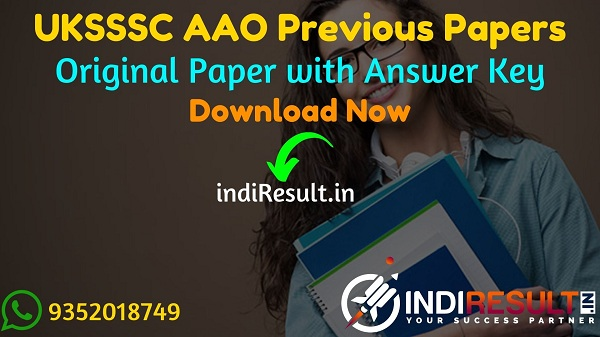 UKSSSC AAO Previous Question Papers - Download Uttarakhand Assistant Agriculture Officer Previous Year Papers Pdf, UKSSSC AAO Old Paper, UKSSSC AAO Papers.