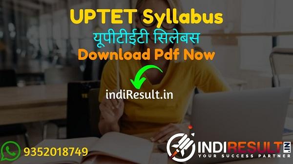 UPTET Syllabus 2021 - Download UPTET Paper 1 & Paper 2 Syllabus pdf Download in Hindi & English. Latest UPTET 2021 Syllabus in English/Hindi pdf Download.